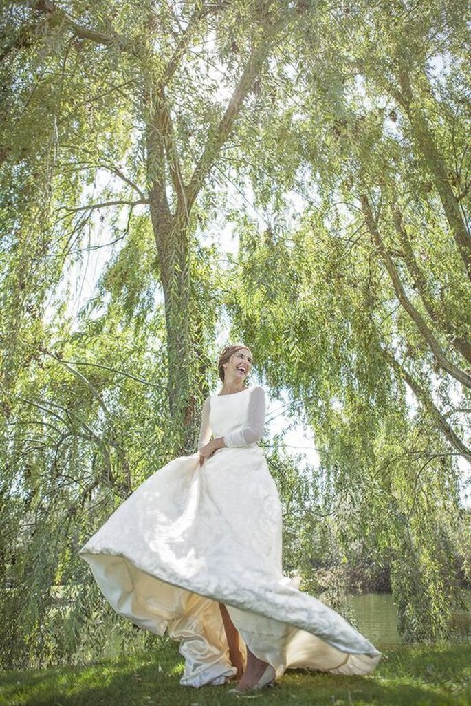 Foto de novia con su vestido