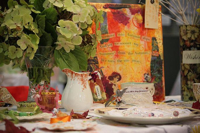 Decoración de las mesas. Foto: Keith Bloomfield