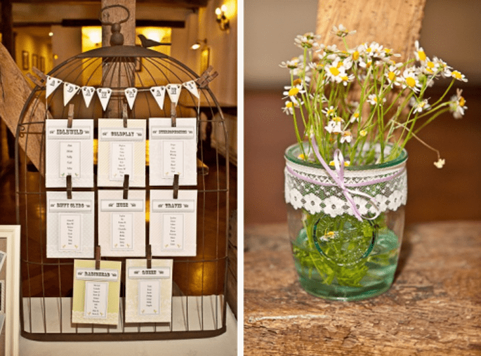 Detalles decorativos para boda vintage y centro de mesa - Foto Cotton Candy Weddings