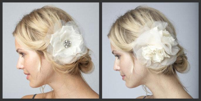 Links: Alita Wedding Hair Flower Clip, rechts: Charlotte Wedding Hair Flower Clip