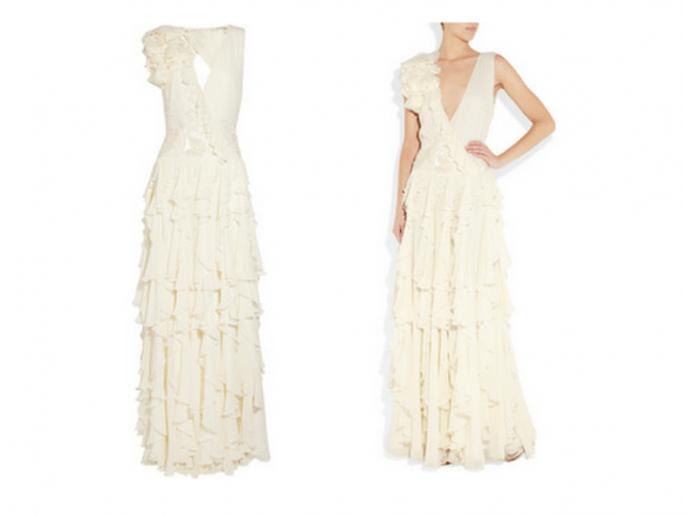 Vestido de novia original y elegante de Matthew Williamson - Foto Net A Porter