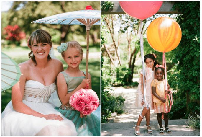 Vestidos con mucho estilo y encanto para las pajes de tu boda - Foto meg Smith