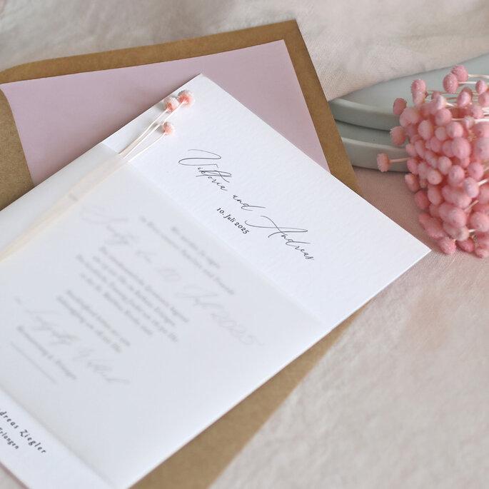 Hochzeitsdienstleister. Papeterie