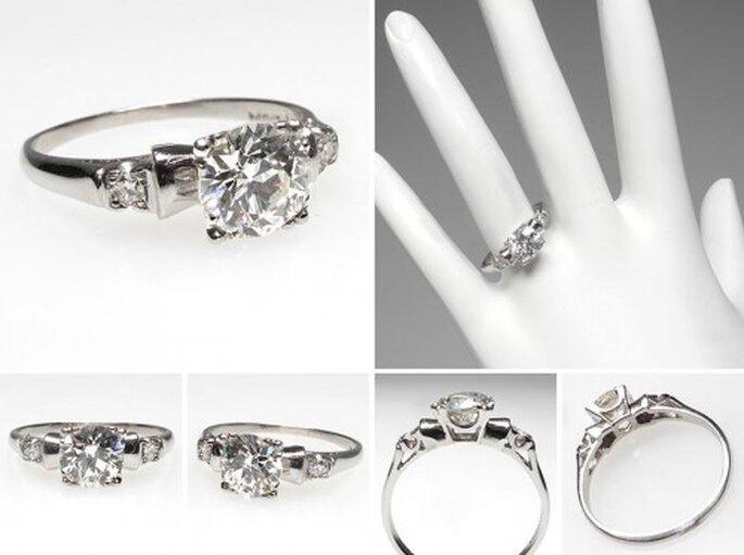 Anillo de compromiso con diamante solitario - Foto Eragem