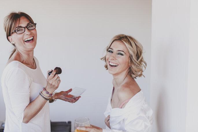 Wie hält das Make-up sicher während der ganzen Hochzeit? Foto: David de Biasi