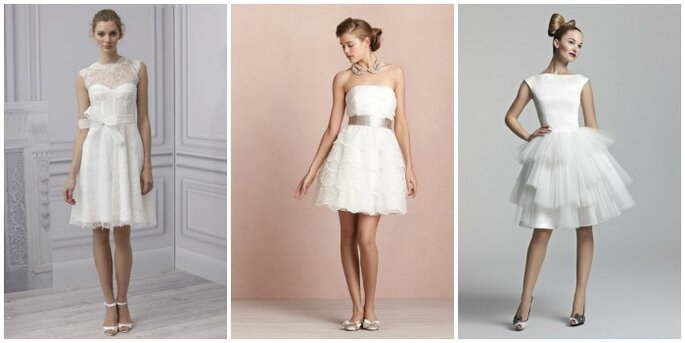 Una selezione di abiti da sposa corti