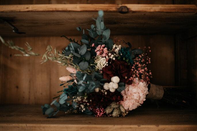 Flores preservadas para la boda