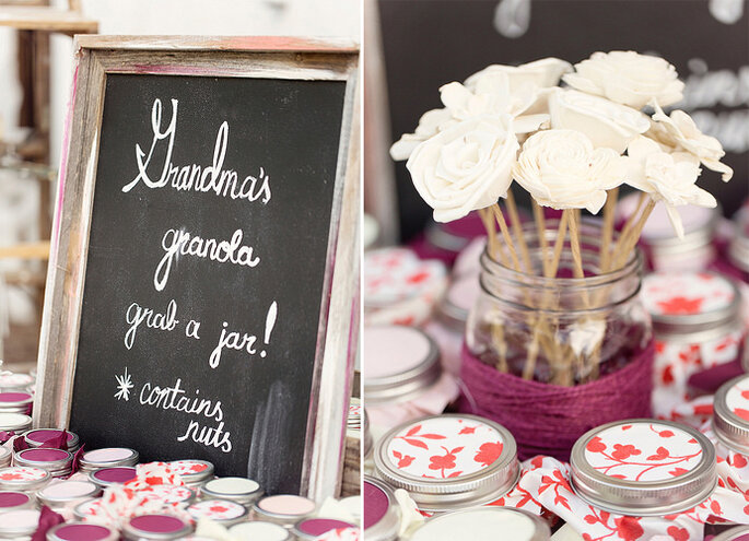 Dulces & Mermeladas de regalo. Foto: Glass Jar Photography