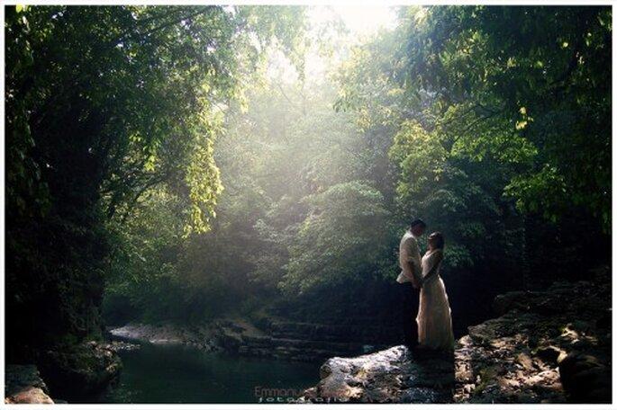 Sesion de fotos trash the dress en ambientes naturales de Veracruz - Foto Emmanuel Aquino