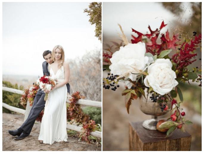 Inspiración de boda en color rojo intenso - Foto Jessica Peterson