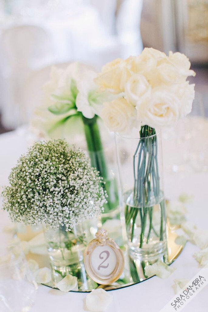 Centrotavola floreale bianco