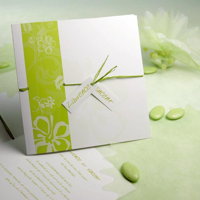 Faire-part de mariage vert : la nature à l'état pur...