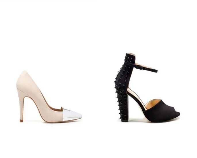 Due modelli con dettagli forti che catalizzano l'attenzione sulla scarpa. Perfette con un total look sobrio. Foto www.zara.com