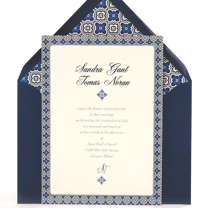 Boda decorada con colores azul y gris - Oh So Beautiful Paper