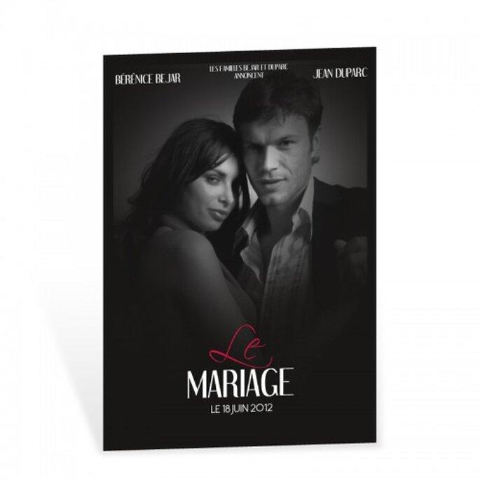 Un faire-part de mariage de qualité, tendance, personnalisable et original, n'est-de pas ce dont on rêve ? - Source : Faire-part Edition