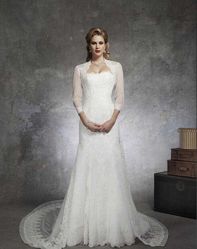 Abito da sposa con le maniche lunghe. Foto: www.justinalexanderbridal.com