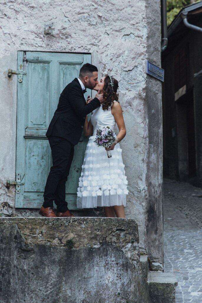 Das Brautpaar beim Shooting.
