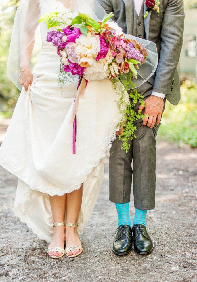 14 formas para combinar con tu novio el día de la boda - Justin & Mary