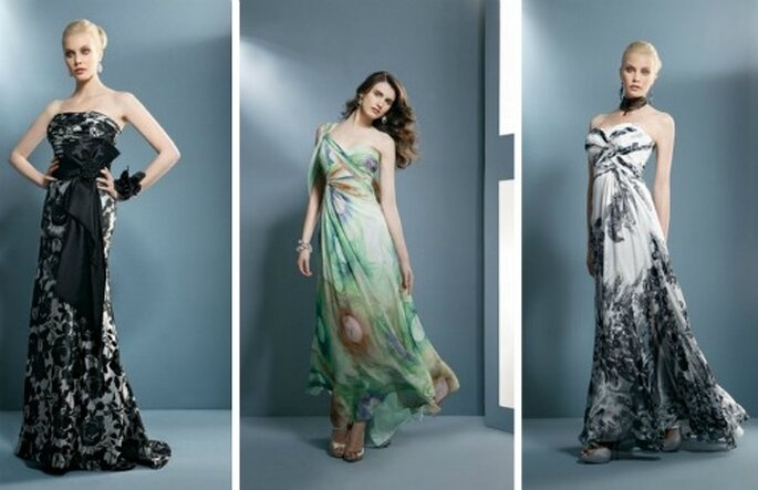 Alcuni modelli con stampa, black & white e colorato. Demetrios Collezione 2012