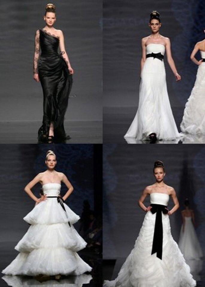 Vestidos de Noiva Pretos e Brancos - colecção Rosa Clará 2011