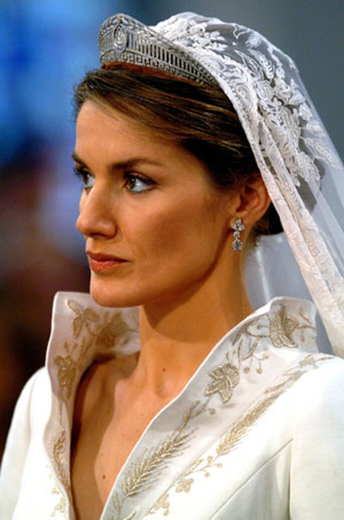 Princesa Leticia de Espanha no dia do seu casamento