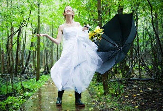 Para algunas culturas la lluvia en el día de la boda es sinónimo de buena suerte.