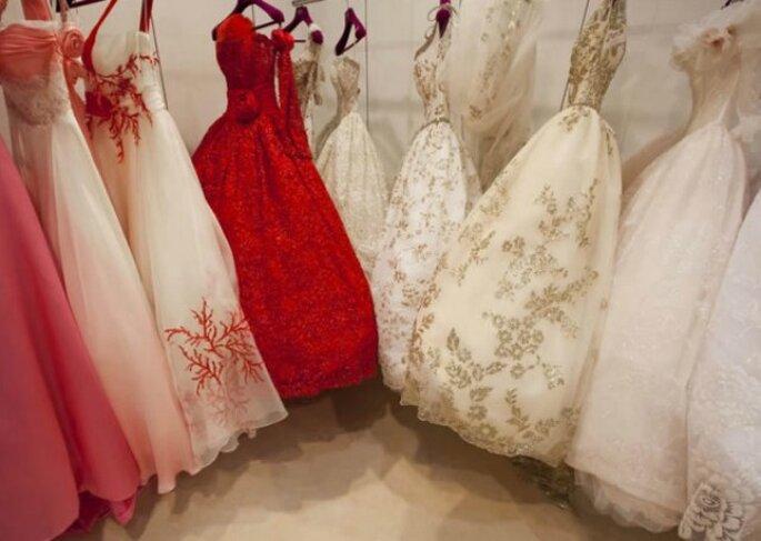 Quest'anno per il tuo matrimonio scegli un abito da sposa colorato! Foto www.donna.tuttogratis.it