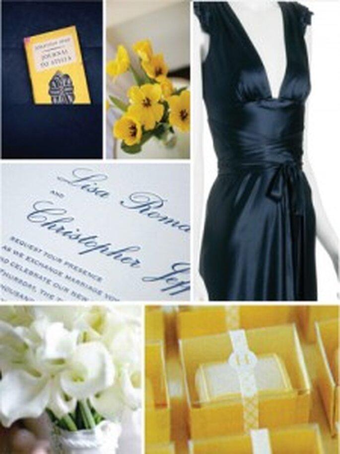 Blu e giallo per una cerimonia sobria