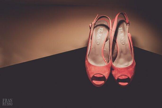 Zapatos para novia coloridos. Foto: Fran Russo