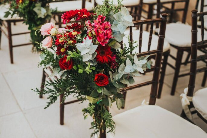 arranjo de flores casamento