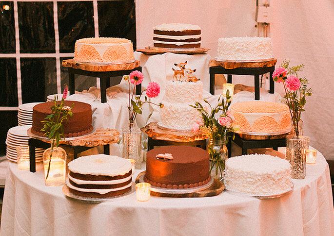 Pour votre dessert de mariage, optez pour un assortiment de gâteaux