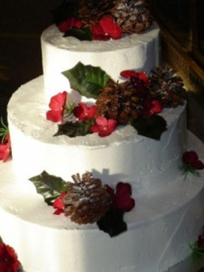... ed una torta ideale per chi si sposa sotto Natale.