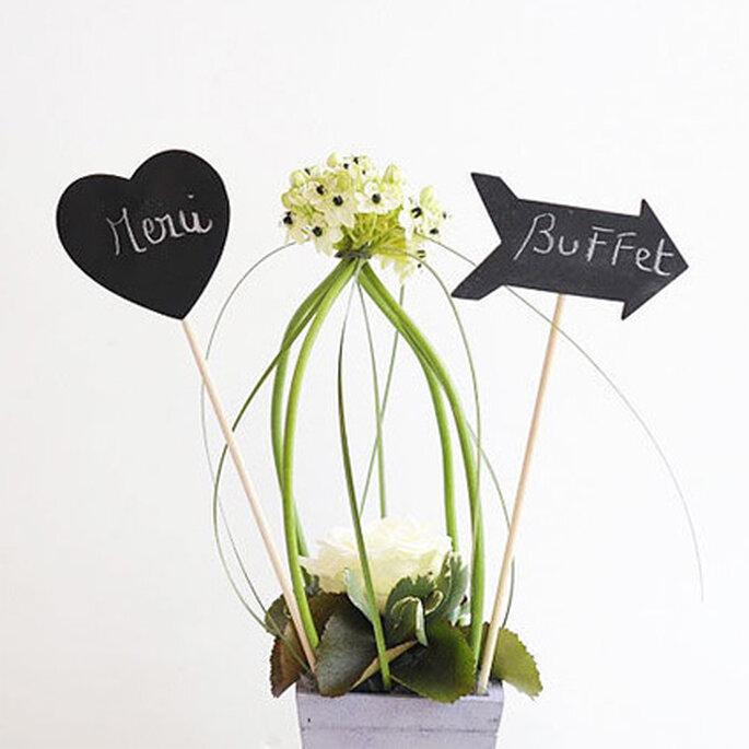 Pics en ardoise : rien de tel pour décorer les buffets et table de votre mariage !