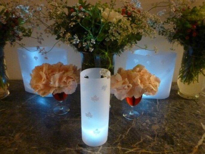 Les Led : un éclairage original pour votre mariage. - Photo : Mariage Hors Série