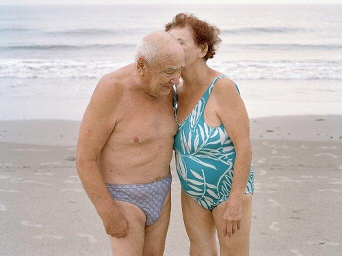 """Esta pareja asegura tener """"el secreto de la fórmula del amor"""". Foto: Lauren Fleishman."""