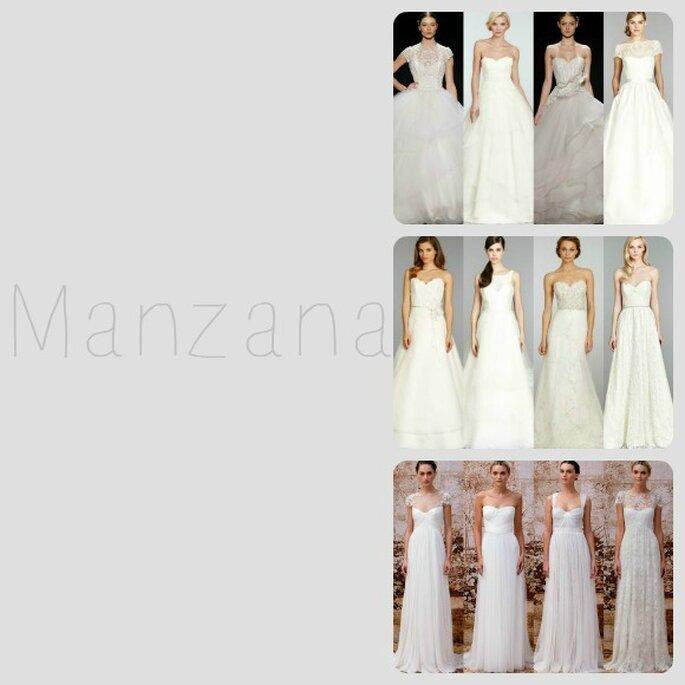 Para la silueta manzana, los vestidos de novia corte princesa, imperio y en corte A son esenciales - Foto Zankyou