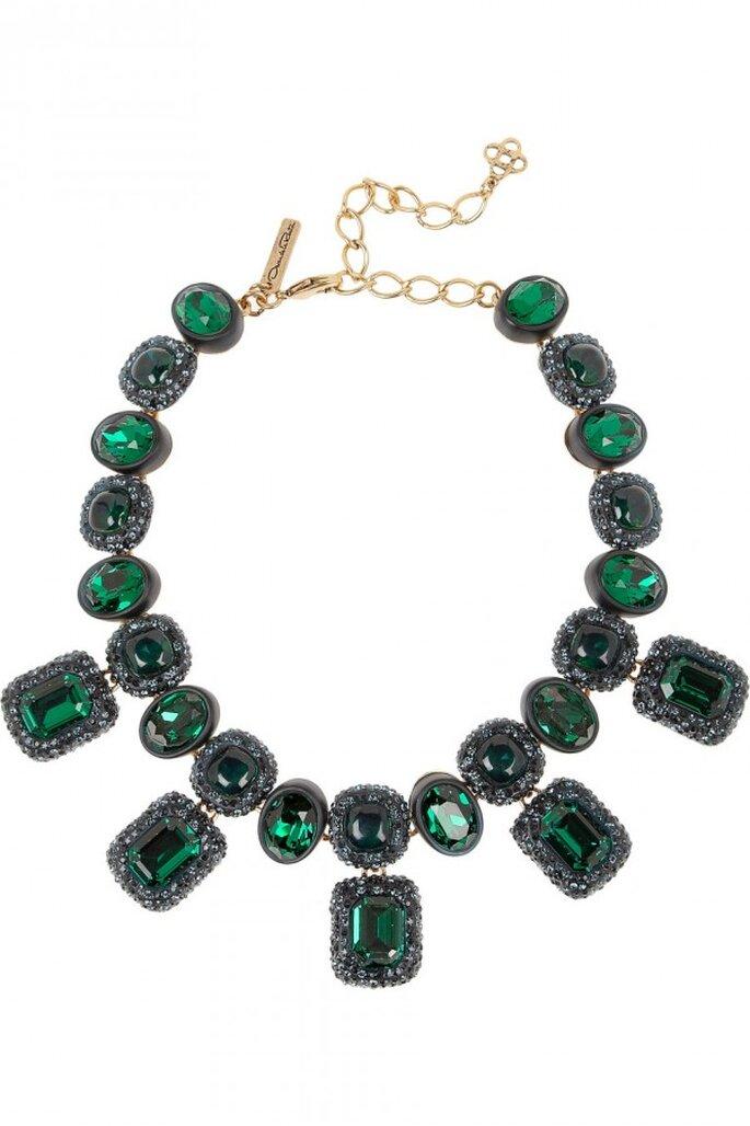 Statement necklaces para novia en tendencia - Foto Oscar de la Renta