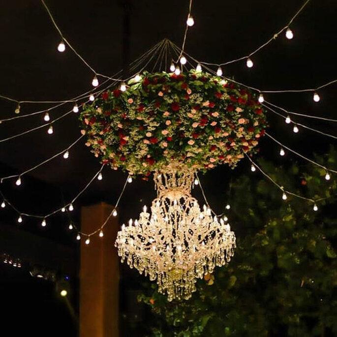Iluminación de los espacios de la boda