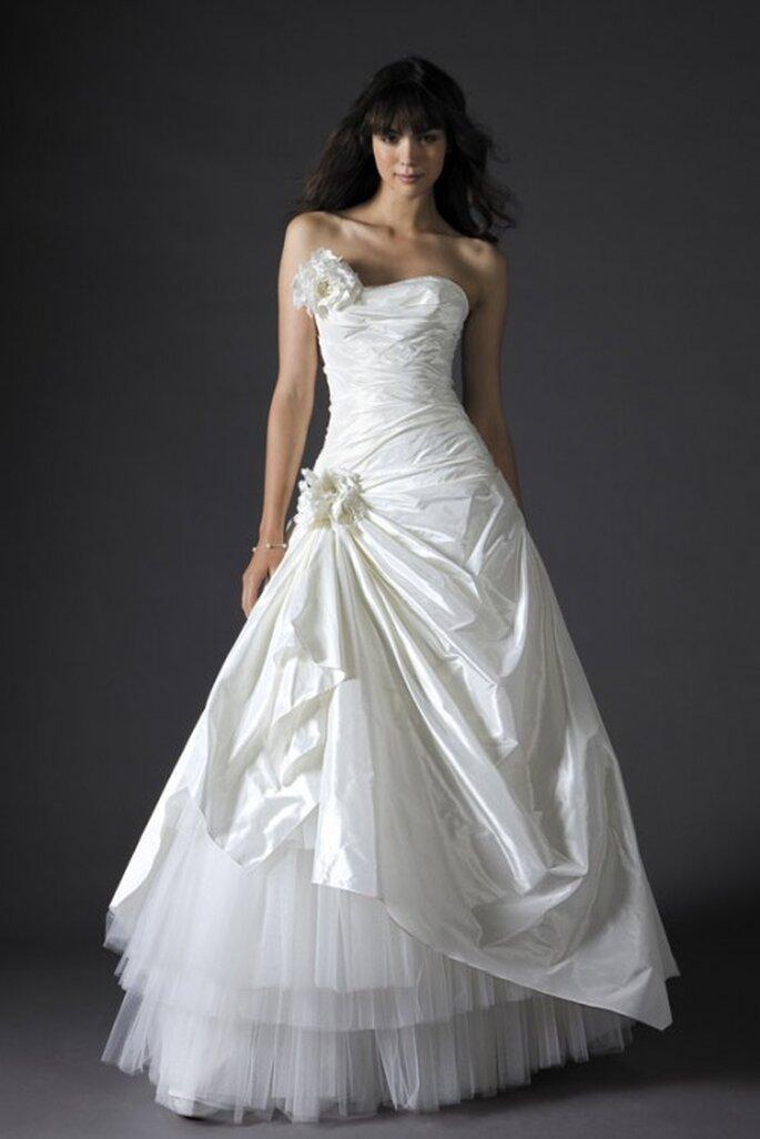 Vestido de novia en organza y tul, Fleurette, Cymbeline