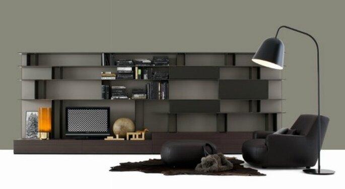 Un soggiorno essenziale e molto elegante