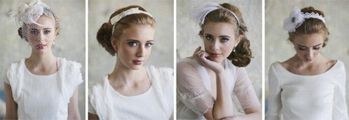 Diademas y tocados estilo vintage para novias - Foto: Ruche