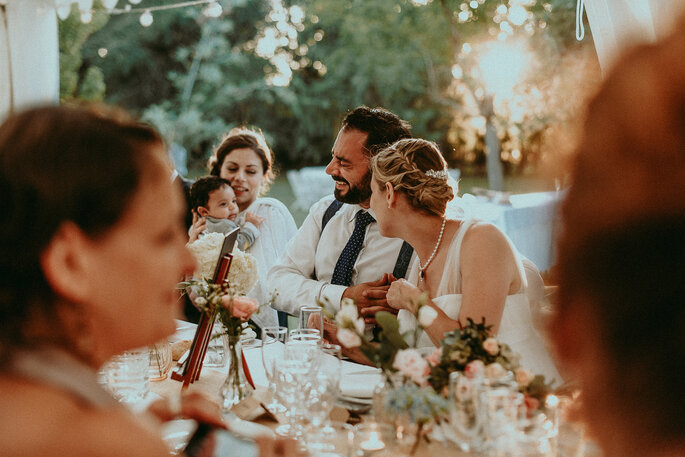 table de réception- mariage champêtre en Lot-et-Garonne dans le jardin familial