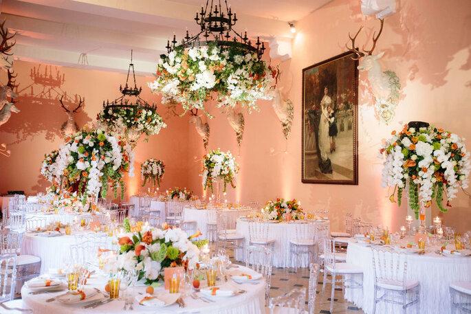 fleurs de mariage et lieu de réception