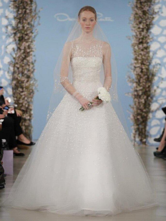 Vestido para una novia romántica - Foto Oscar de la Renta