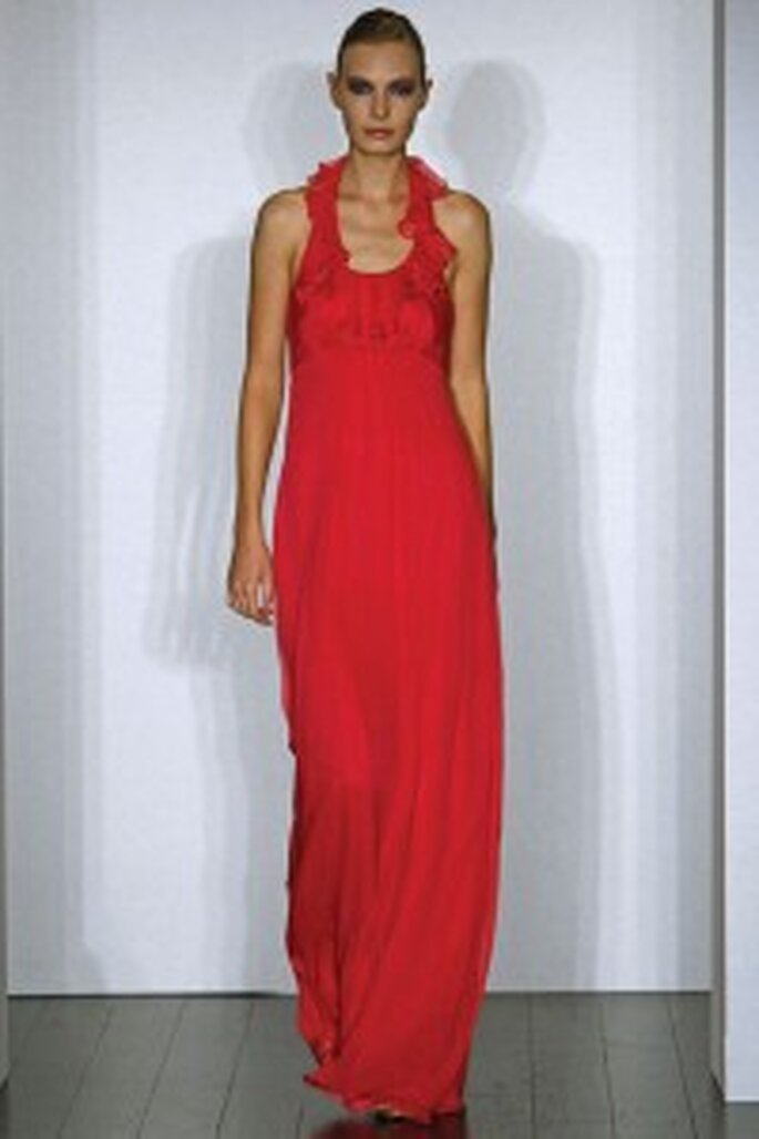Vestido de madrina rojo