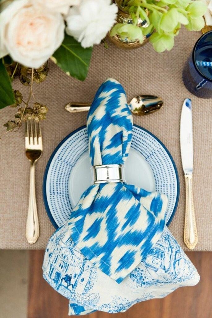 #MartesDeBodas: Decoración de boda en color azul cerúleo y pastel - Foto Aislinn Kate Photography