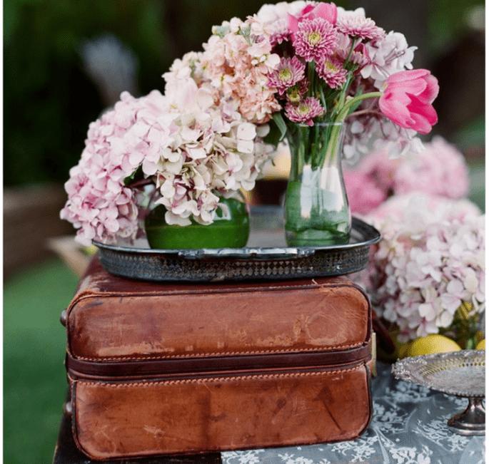 Decoración original para una boda vintage - Foto Elizabeth Messina