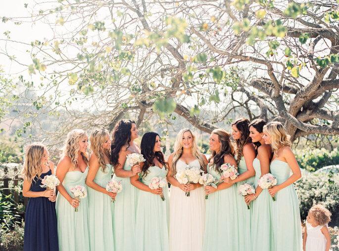 decoración de bodas en color menta - Danielle Poff Photography