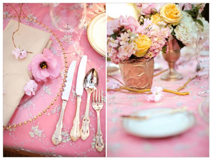 #martesdebodas: elegante decoración de boda en rosa pastel - Foto Jessica Lewis
