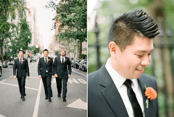 10 originales y coloridos boutonnieres para tu boda. Fotografía  KT MERRY